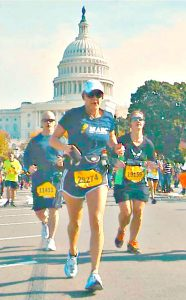 Cherie at the Marine Corps Marathon
