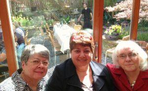 Debra, her mom and Senior Connections' Sally Eggleston