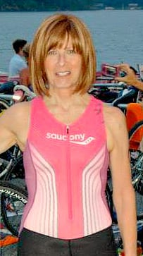 Gail Before the Swim of her First Triathlon
