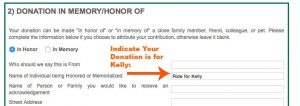 Ride for Kelly