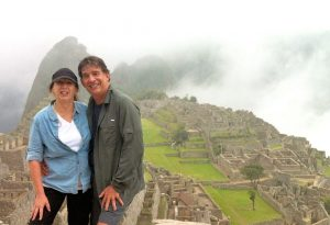 Maggie and Don hiking at Machu Picchu
